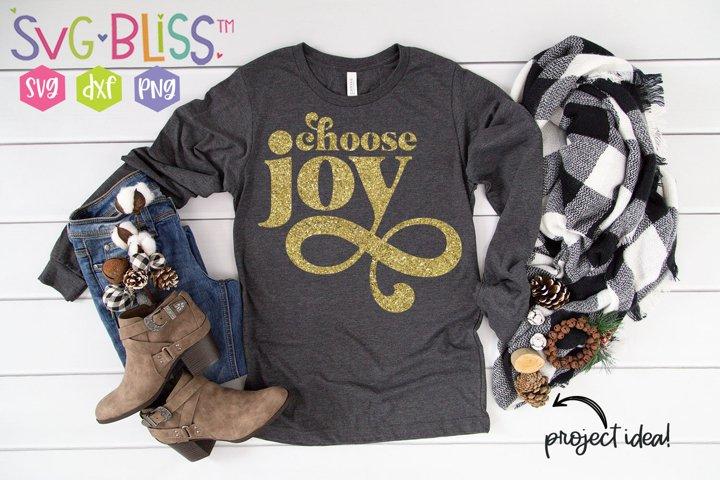 Choose Joy Christian Religious Quote SVG Cut File