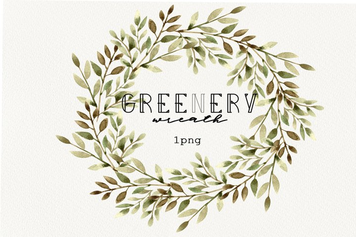 Floral wreath fall, Christmas Greenery round, botanical logo