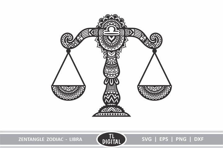 Zodiac Zentangle - Libra / Scales - SVG | EPS | PNG | DXF