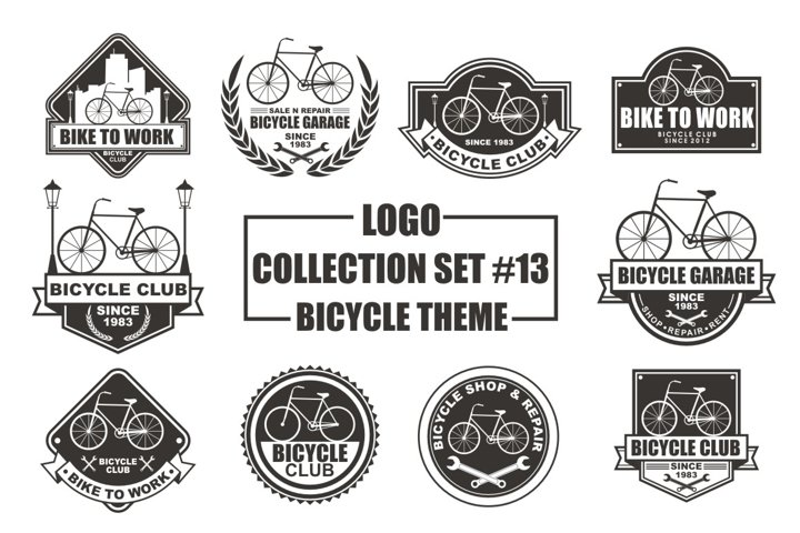 Logo Collection Set with Bicycle Theme