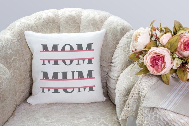 Mom and Mum Split SVG File