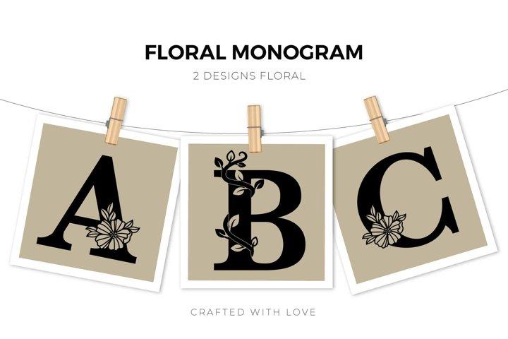 Monogram Floral