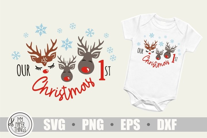 Our 1st Christmas svg, Baby Christmas svg