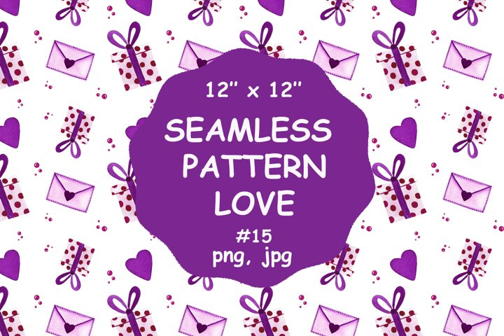 Seamless pattern LOVE, Valentines seamless designs, png