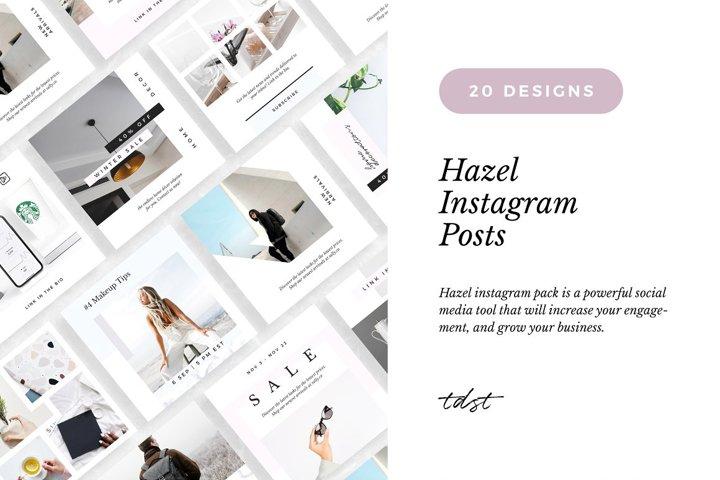 Hazel - Minimal Instagram Pack