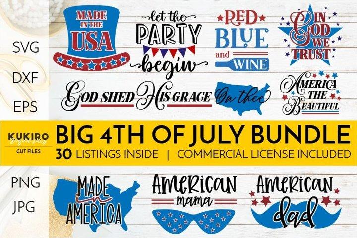 4th of July Bundle SVG - Big Patriotic Cut files Bundle