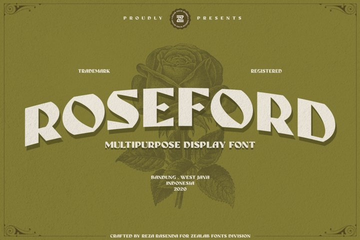 ROSEFORD - MULTIPURPOSE VINTAGE DISPLAY FONT