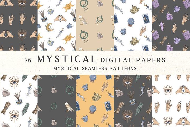Witch digital paper, Magic digital paper, Witch clipart