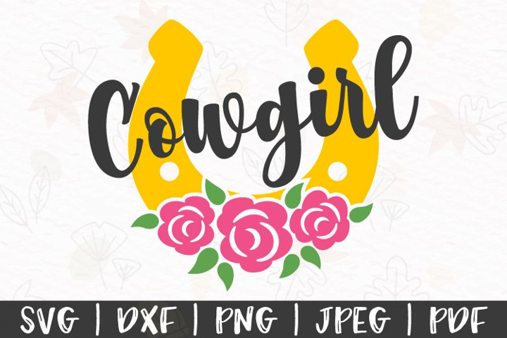 Cowgirl svg, Horseshoe with flowers svg, Country girl svg