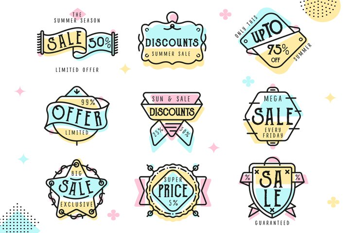 Special offer sale tag collection