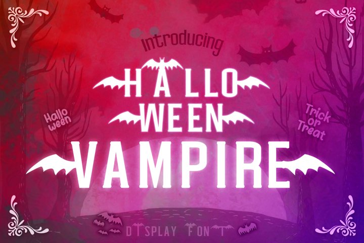 Halloween Vampire Display font