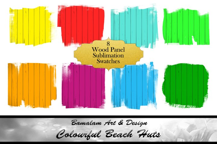 Colourful Wood Panel Sublimation Backgrounds