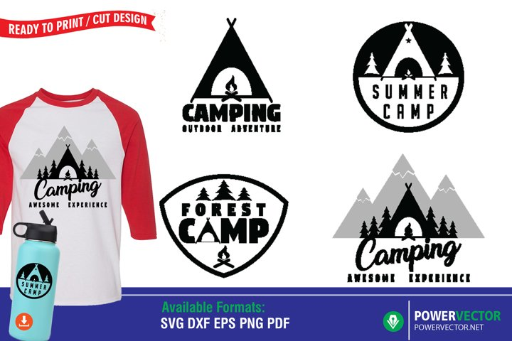 Camping Quotes SVG| Summer Camp Clipart