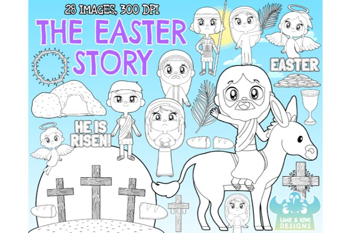 The Easter Story Digital Stamps - Lime and Kiwi Designs