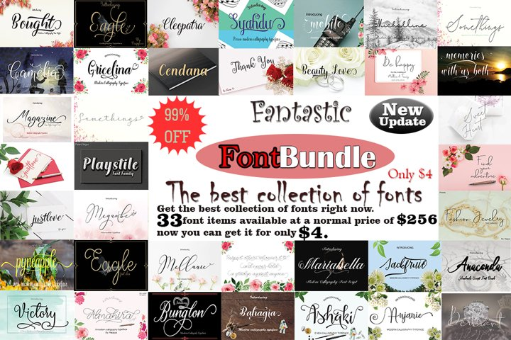 Fantastic FontBundle|the best collection of fonts