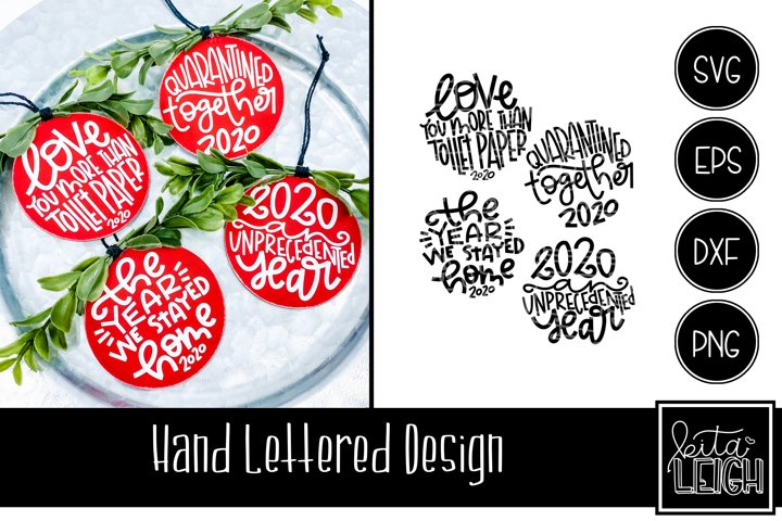 2020 Christmas Hand Lettered Rounds Set 2