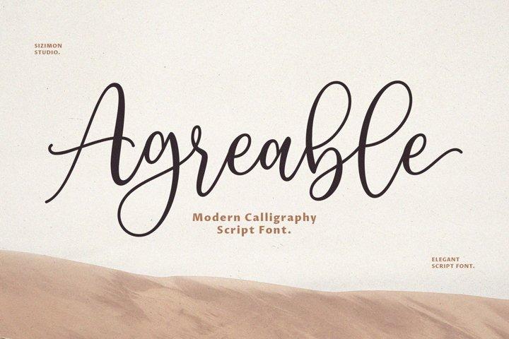 Agreable Modern Script Font!