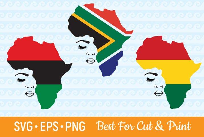 Afro SVG Afro Woman SVG Melanin SVG Black SVG African Flag