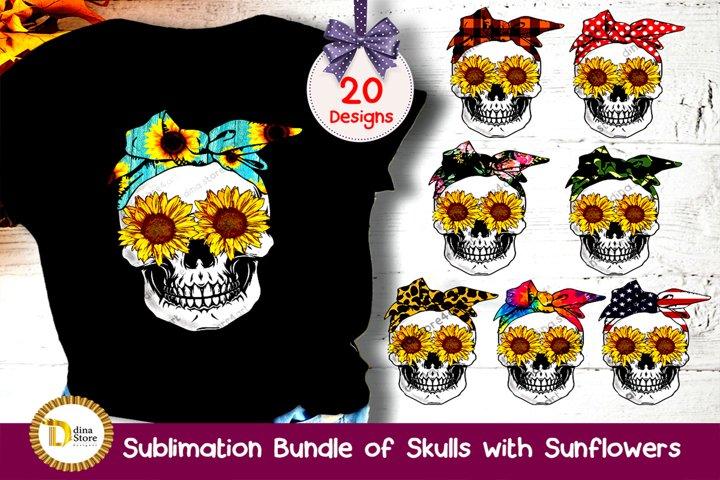 Sublimation cliparts- Sull with Bandana & sunflowers Bundle