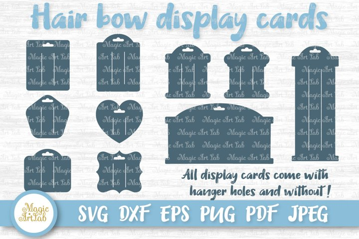 Hair bow card svg, Hair bow card template, Bow display card