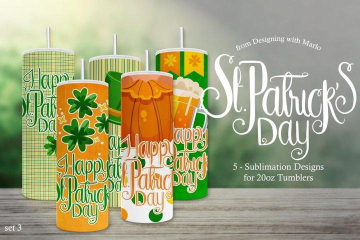 St. Patricks Day Tumbler Sublimation Designs - set 3