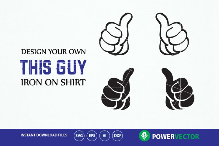 Thumbs up Svg. Hands Svg. Double thumbs up svg. This guy thumbs svg, dxf, png, eps, ai files. Hand, Thumbs clip art. Thumbs vector cut file