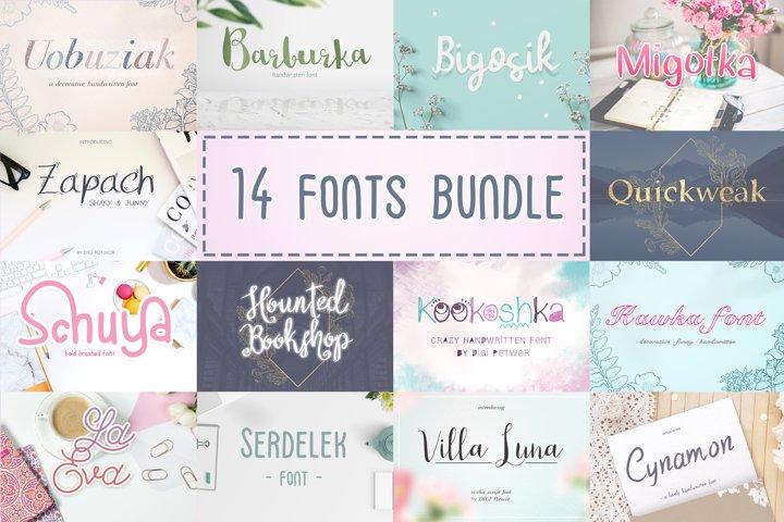 14 Fonts bundle