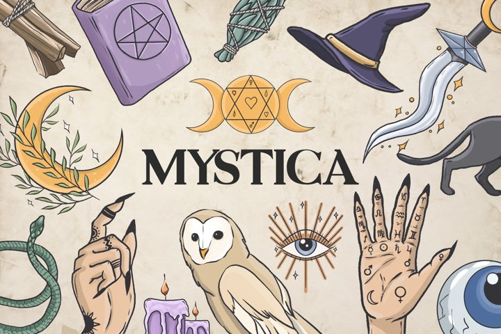 Witch clipart, Mystic clipart, Magic clipart, Pastel goth