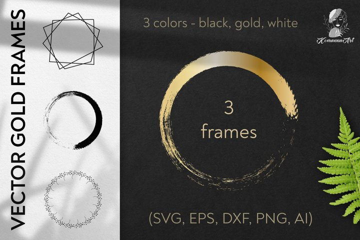 Vector wreaths silhouettes SVG clipart , single line
