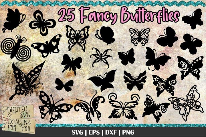 Fancy butterflies | Butterfly bundle | Butterfly SVG