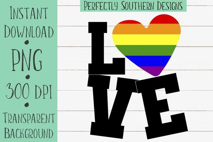 Love Gay Pride- Sublimation Design