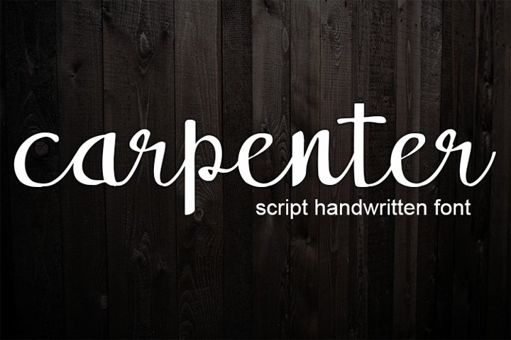 carpenter handwritten script font