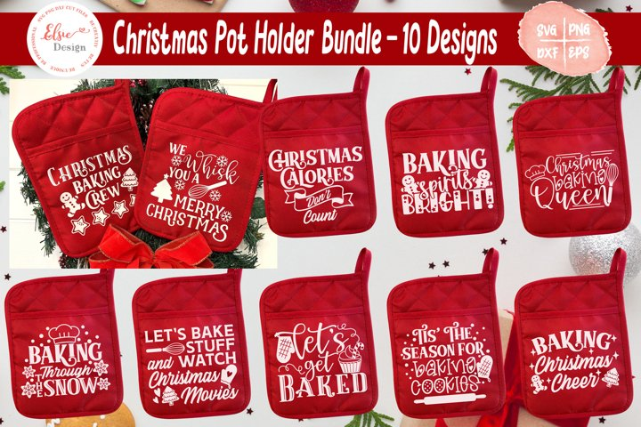Christmas Pot Holder Bundle SVG Cut Files