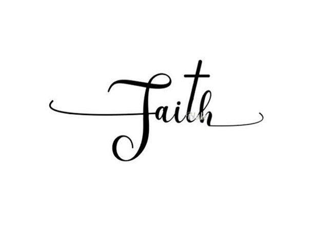 Faith with cross svg cut file Christian svg cut file, faith svg Silhouette Cameo or Cricut Christian t-shirt svg Cross in Faith svg cut file