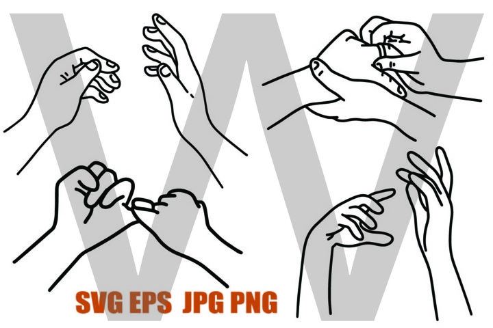 New Style Hand Set 3 - PNG SVG EPS PNG