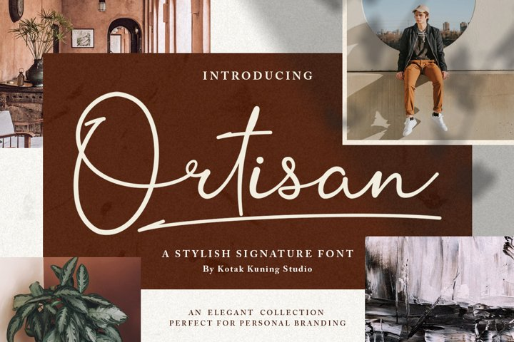Signature Script - Ortisan Font