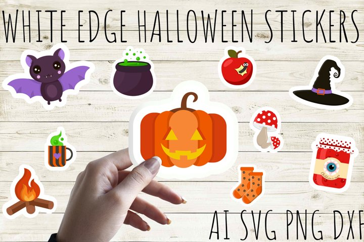 Halloween Stickers Bundle. Cut and Print