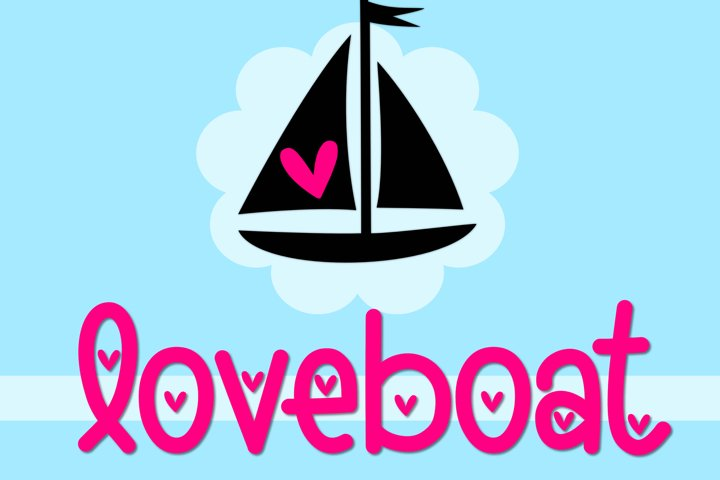 Loveboat - A Cute Font with Hearts