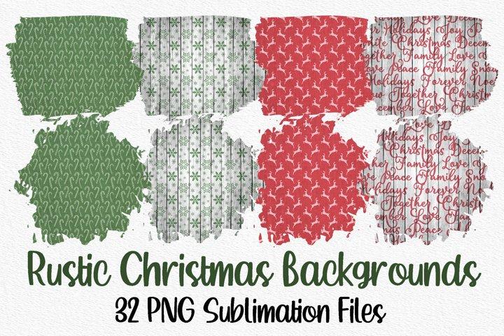 Sublimation Background Bundle - Rustic Christmas