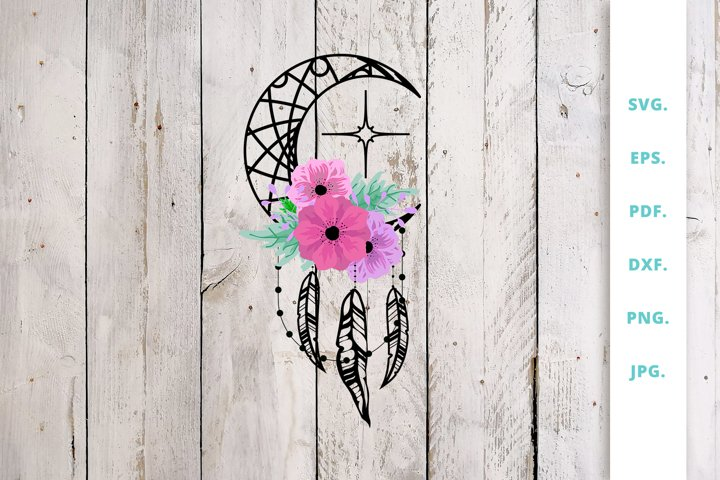 Dream Catcher Moon SVG