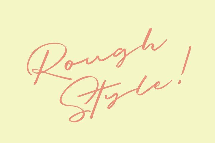 Briquete - Natural Brush Font example 2