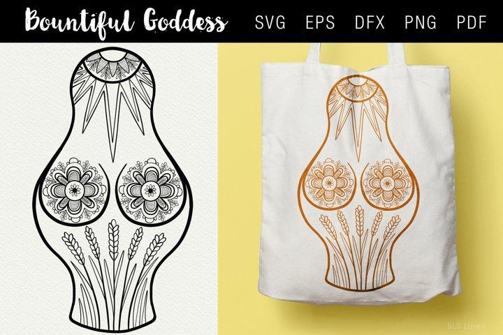 Bountiful Goddess Illustration SVG EPS PNG