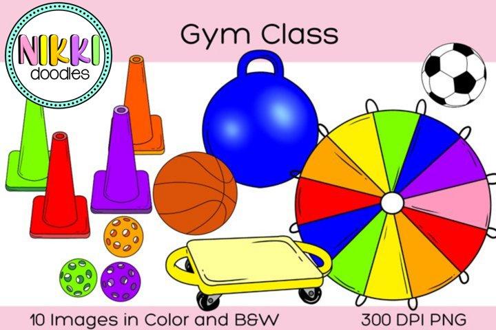 Gym Class Clip Art, P.E. Digital Stickers, Physical Ed.