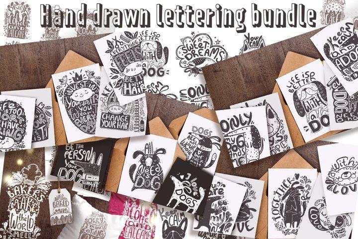 Hand drawn lettering bundle