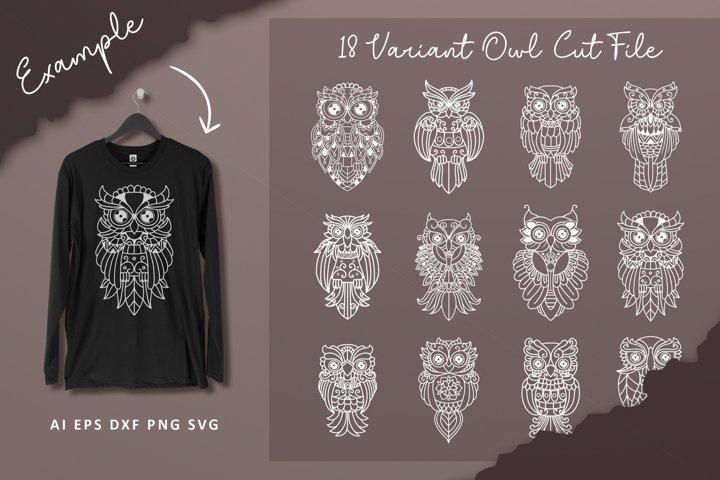 18 Variant Owl Cut File