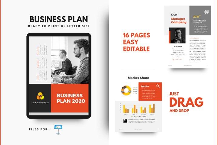 Business Plan 2020 Template Keynote Presentation