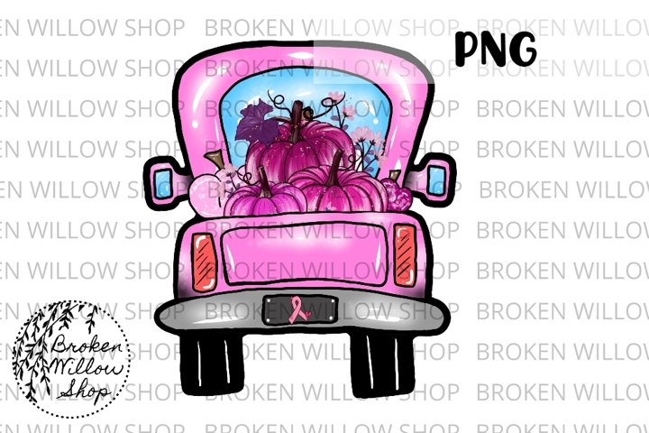Breast Cancer Awareness Truck Sublimation PNG File