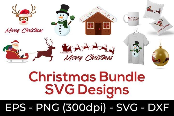Christmas svg - Merry Christmas Sublimation Designs