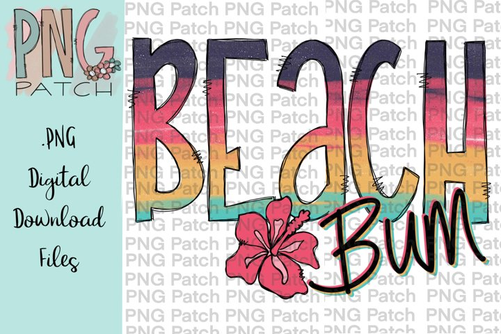 Beach Bum with Hibiscus Flower, Beach PNG Files