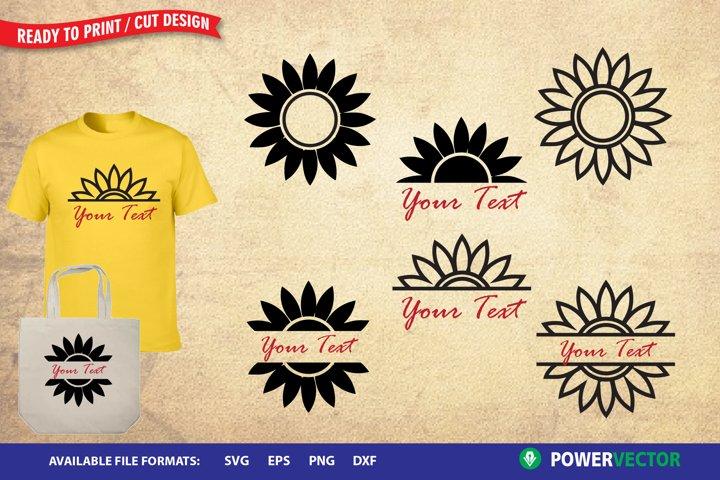 Sunflower Svg | Sunflower Logo Monogram Frames
